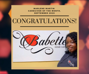 Caregiver of the month, Babette Home Care